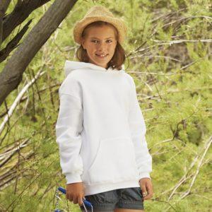 Premium 70/30 kids hooded sweatshirt