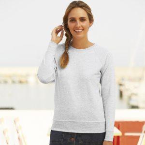 Lady-fit lightweight raglan sweatshirt